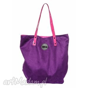 torba worek lila fuksja, worek, podróże, rodzina, zakupy torebki