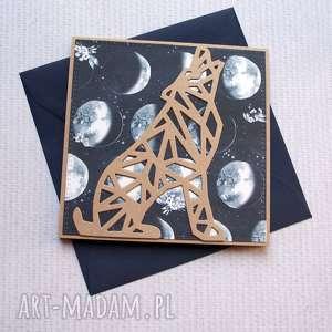 hand-made kartki the woolf: kartka handmade:: wilk, wilczyca