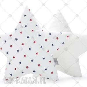 poduszka gwiazda - granatowo-czerwone gwiazdki, poduszka