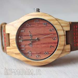 Damski drewniany zegarek linnet zegarki ekocraft drewniany
