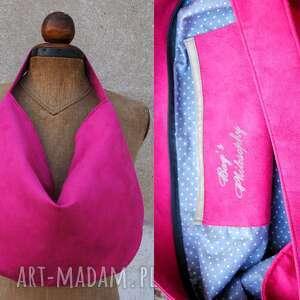 hand-made torebki hobo true colors - fuksja