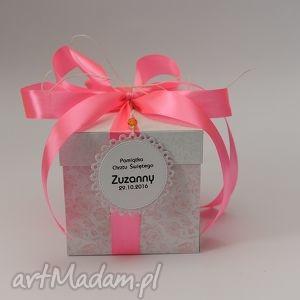 hand-made scrapbooking kartki kartka pudełko box urodziny lub chrzest