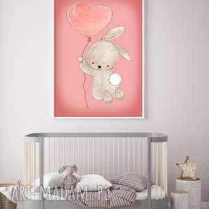 pokoik dziecka króliczek a3, króliczek, królik, plakat, obrazek, ilustracja