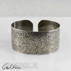 bransoletki piasek - metalowa bransoletka, bransoleta, szeroka