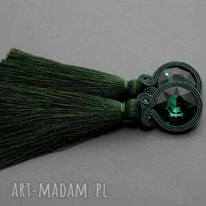 świąteczny prezent, kolczyki sutasz z chwostem, sznurek, eleganckie, wiszące