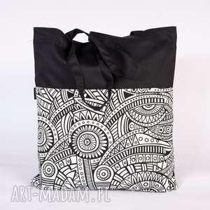 gawka siatka wzorzysta, torby, siatka, wzór, etno
