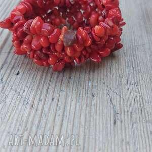 hand-made bransoletka z czerwonego korala