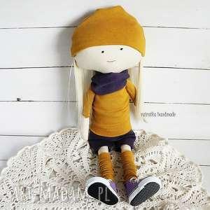 Lalka w fioletach, lalka, szmacianka, zabawka, maskotka