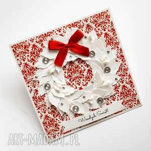 kartka świąteczna z wiankiem 3 kartki świąteczne, kartka boże