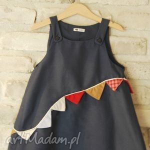 Sukienka Chorągiewka , sukienka, chorągiewki, kolor, bawełna, zabawa