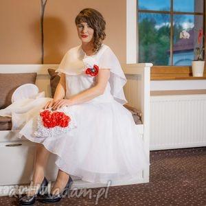 ślubny komplet, ślub, moda, pokaz, słowiański, len święta prezent