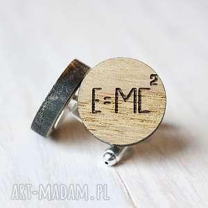 dębowe spinki do mankietów einstein - spinki, ekologiczne, drewniane, einstein