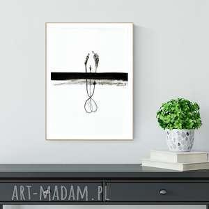 grafika 30x40 cm wykonana ręcznie, abstrakcja, elegancki minimalizm