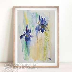IRYSY -akwarela formatu 18/24 cm , kwiaty, papier