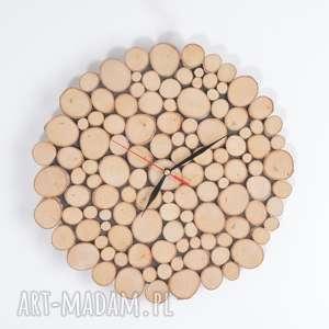 zegary zegar ścienny na ścianę drewniany z drewna prezent, zegar, zegarścienny