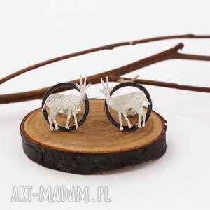 srebrne kolczyki antylopy - zwierzęta, safari, afryka