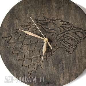 ręcznie robione zegary zegar drewniany wolf