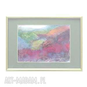 Jesienny pejzaż obrazek, górski jesienny rysunek, widok