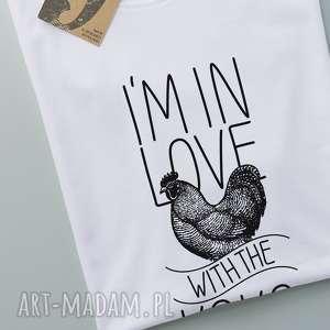 KOKOLOVE koszulka męska z nadrukiem, koszulka, tshirt, kura