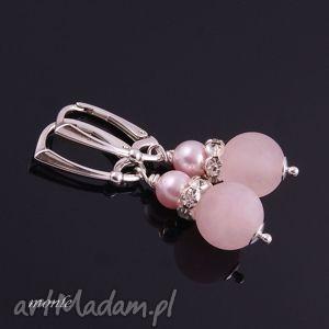 candy różowe kolczyki - biżuteria swarovski, cyrkonie, srebro