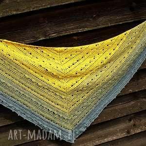 chustki i apaszki chusta letnia mgła ombre, bawełna, akryl, szydełkowa