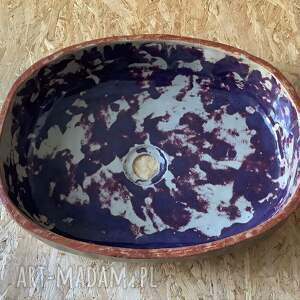 ręczne wykonanie ceramika umywalka ceramiczna chińska czerwień