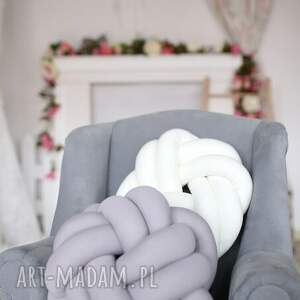 Ręcznie pleciona dekoracyjna PODUSZKA SUPEŁ PRECEL KNOTPILLOW 40x30, poduszka-supeł