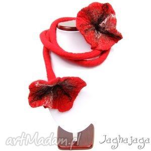 Kwiaty na dredzie naszyjniki jaghajaga filcowany, dread, kwiat