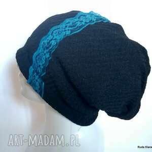 czapka damska kolorowa etno boho uniwersalna na podszewce, box g1-polecam, smerfetka