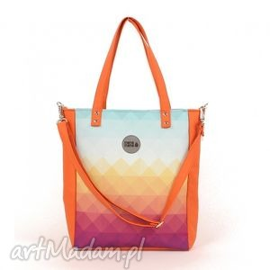 fe5a632c9961c Torebki handmade prezent kolorowa turkusowe269,00 zł torba cuboid orange  ombre, elegancka, kolorowa, mana mana, personalizacja, haft