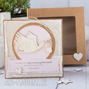 scrapbooking kartki kartka z okazji narodzin, chrztu świętego gratulacje
