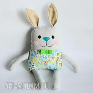 zakręcony królik antek, królik, zając, maskotka, chłopczyk, dzień, dziecka