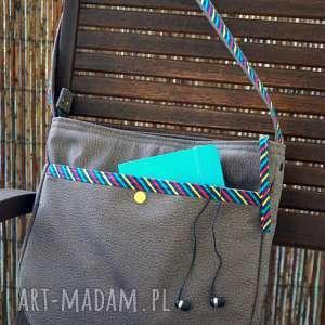 handmade na ramię torba hobo z kieszeni&#261