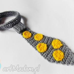 dla dziecka krawat w żółte kropki, krawat, żółte
