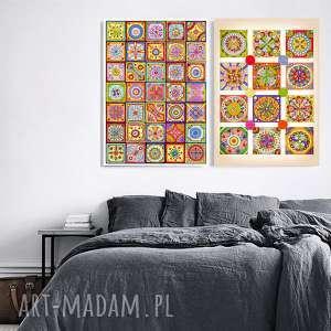 Zestaw 2 prac A2, grafika, plakat, plakaty, mozaika, sztuka