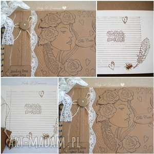 hand-made scrapbooking notesy eko stylowy notes /szkicownik/celebrate life