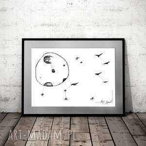 grafika 141 - pełnia księżyca, na prezent, do salonu, dekoracja