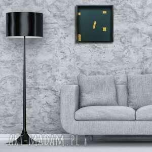 obraz 50x50cm ciemna zieleń złoto, panel, dekoracja, obraz, zieleń