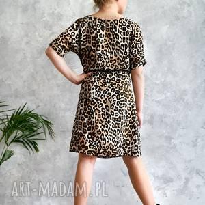 sukienki sukienka w panterkę