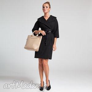 kimono coat 36 czarny - moda, jesień, zima, flausz