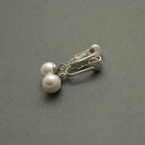 Klipsy z perłami seashell sisu perła, wyjściowe, delikatne