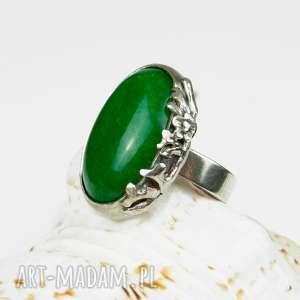 greenary in flower pierścionek a554, pierścionek-srebrny, srebrny-autorski