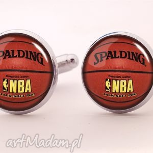 piłka koszykowa - spinki do mankietów, spinki, piłka, koszykowa, koszykówka, sportowe