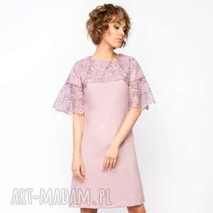Sukienka trapezowa z koronką Roz. 36;38;40, trapezowa-sukienka, koronkowa-sukienka