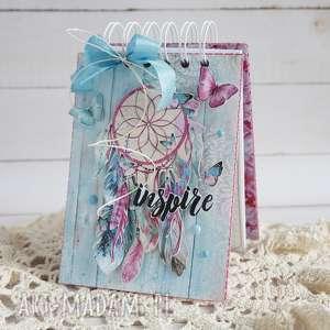 Notes z łapaczem snów - ,notes,notatnik,łapacz-snów,dla-niej,prezent,romantycznie,