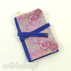 hand made etui piórnik cosmic seeds pink&blue (duży)