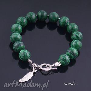 zielone cętki zielona bransoletka - zielone bransoletki biżuteria