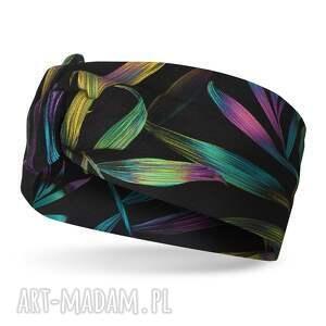 handmade opaski opaska na głowę z węzłem kolorowa