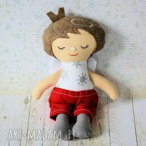 pomysł na świąteczne prezenty Aniołek świąteczny - chłopczyk 25 cm , lalka, aniołek