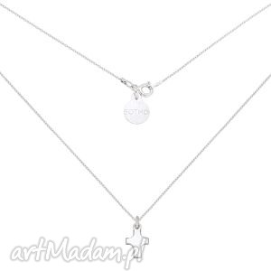 srebrny łańcuszek z krzyżykiem, naszyjnik, zawieszka, krzyżyk